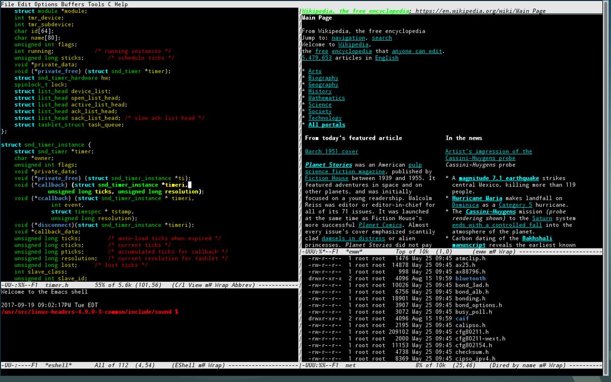 Emacs to świetny system operacyjny, brakuje mu tylko dobrego edytora tekstu