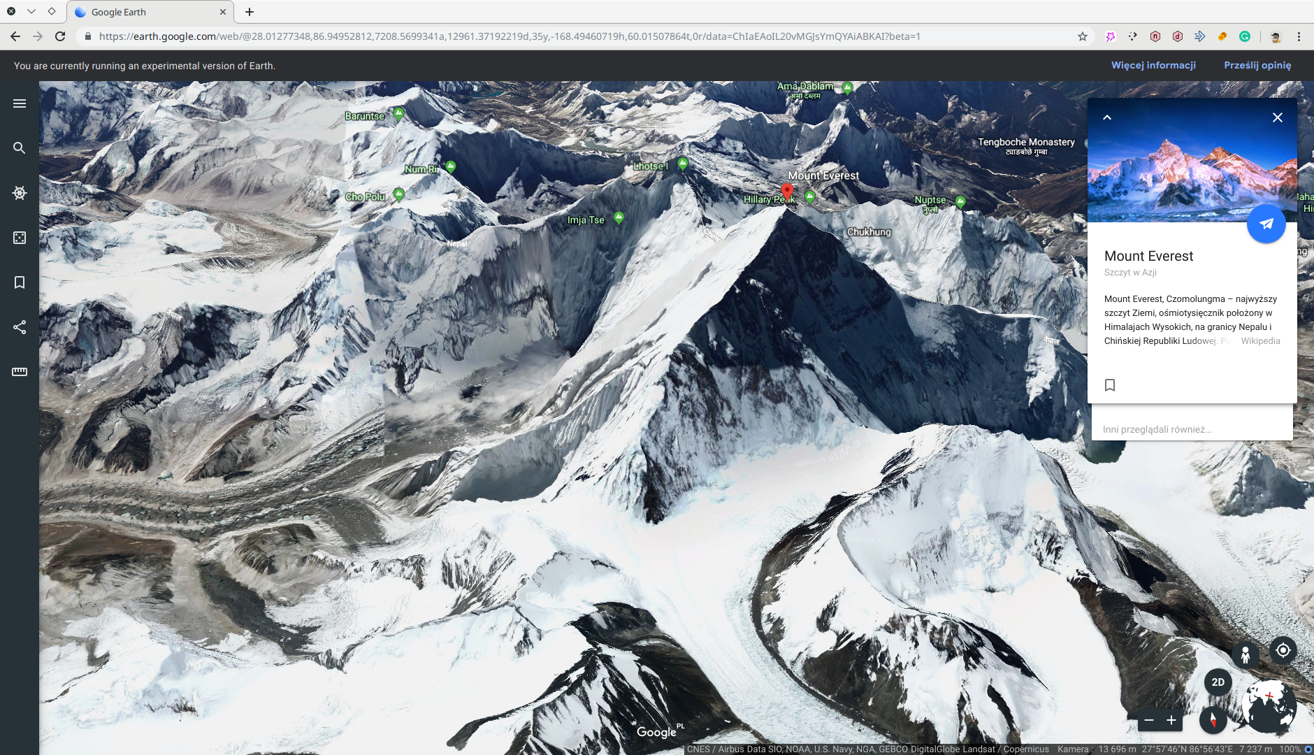 Google Earth Beta (Chromium)